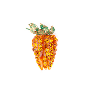 1950's Carrot Bunch Rhinestone Brooch