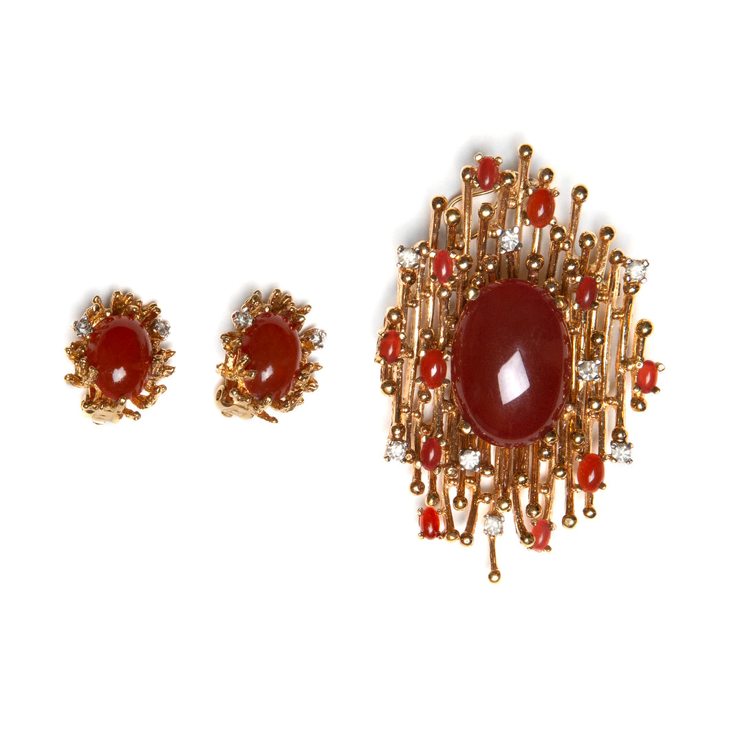 Panetta Red Cabochon Set