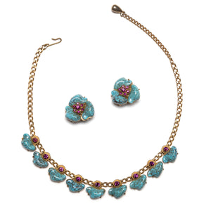1950's Persian Turquoise-Style Stone Set
