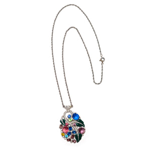 Art Deco Floral Necklace
