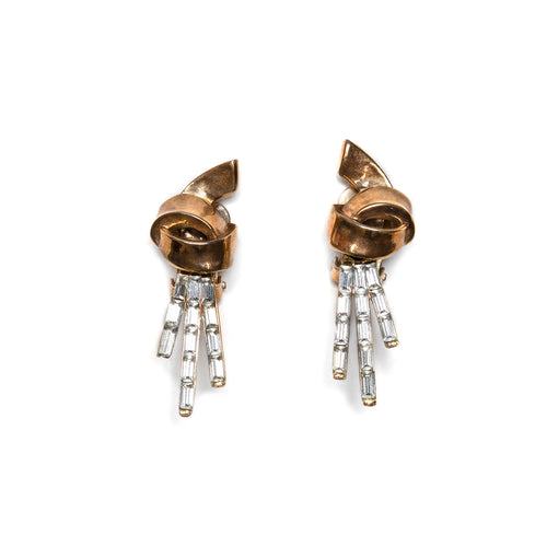 Trifari Gold Knot Earrings