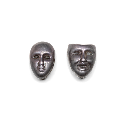 Sterling Mask Earrings