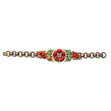 Load image into Gallery viewer, 1940s Trifari Enamel Floral Bracelet