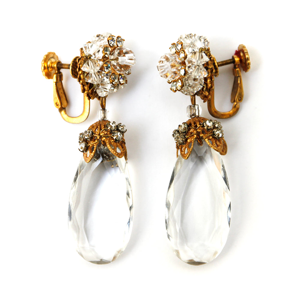 Haskell Crystal Teardrop Earrings