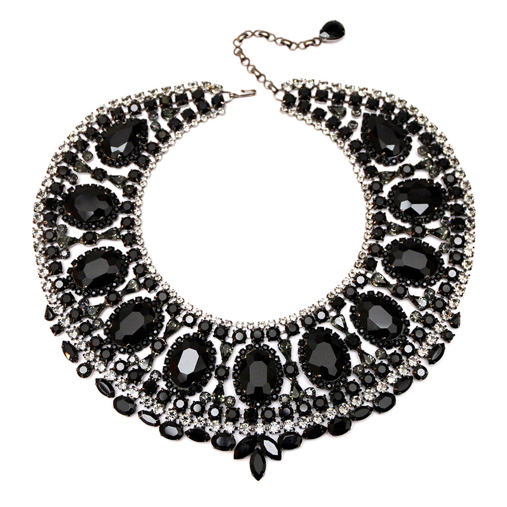 Thorin Black Bib Necklace