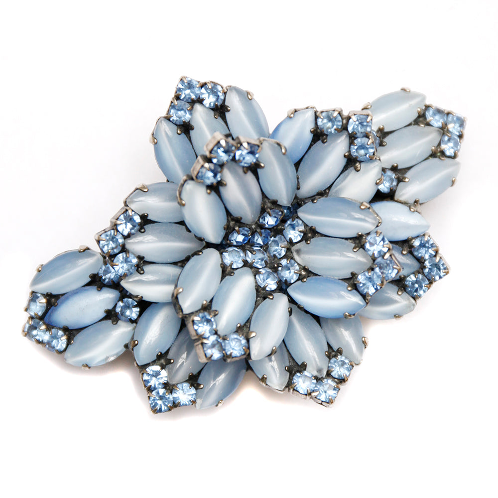 French Satin Blue Hair Clip