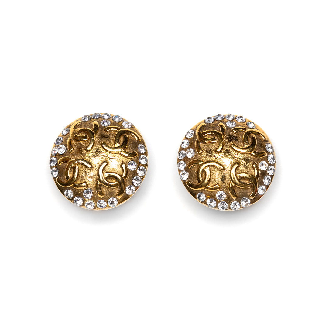 Chanel Round Diamanté Earrings