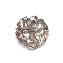 Load image into Gallery viewer, Sellon Sterling Aquarius Brooch