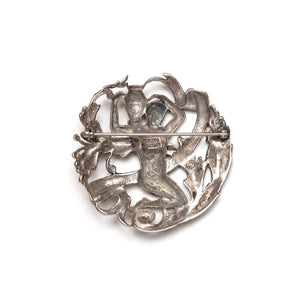 Sellon Sterling Aquarius Brooch