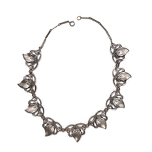Load image into Gallery viewer, Silver Floral Repeating Pattern Necklace