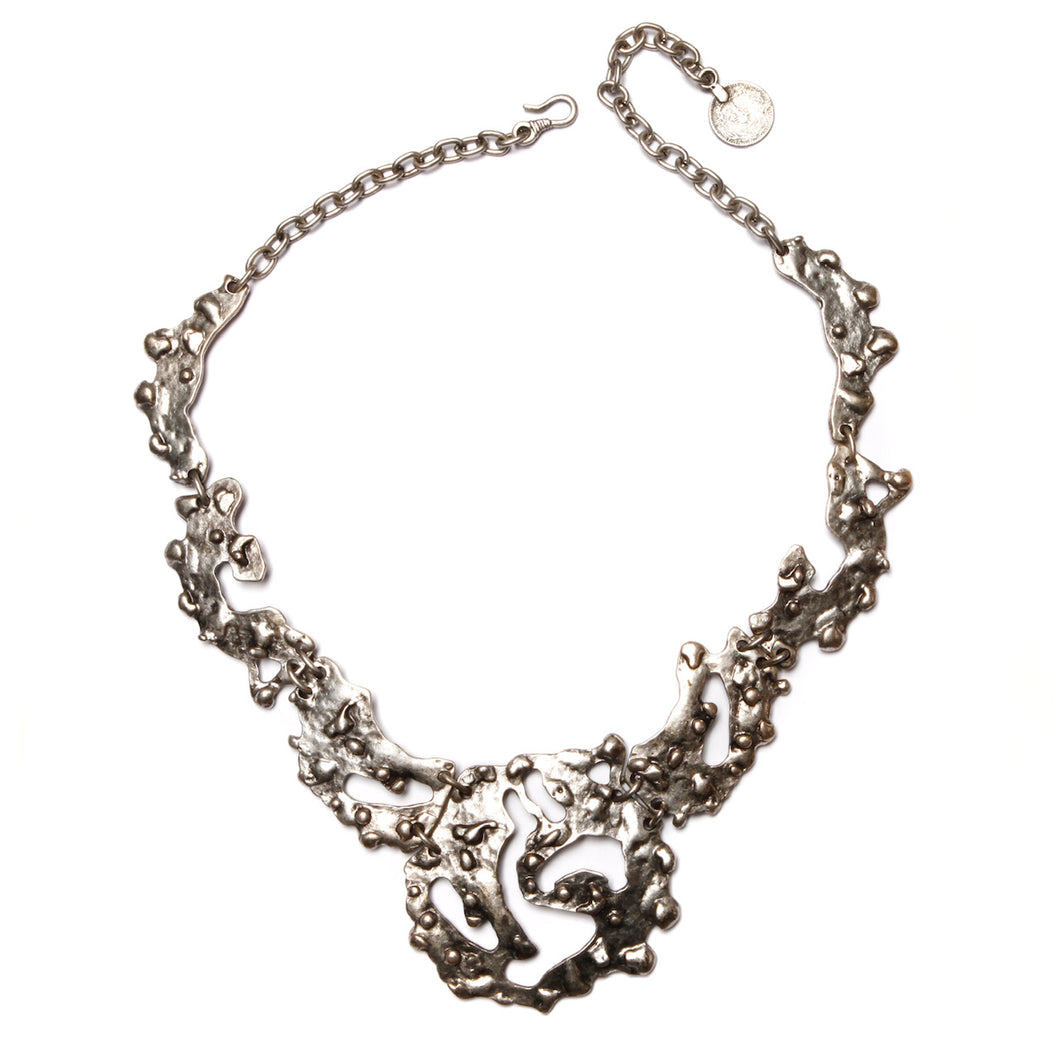 Brutalist Silver Necklace