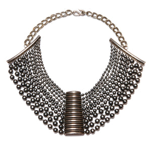 Multi-Strand Metallic Necklace