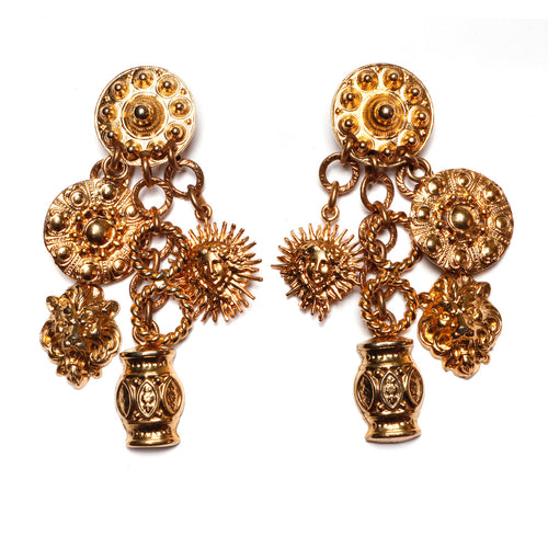1980s Edouard Rambaud Mythical Dangly Earrings