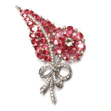 Load image into Gallery viewer, Mazer Pink Flower and Leaf Brooch