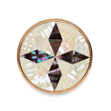Load image into Gallery viewer, 1950s Mother of Pearl Cross Compact