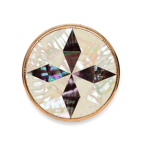 1950s Mother of Pearl Cross Compact