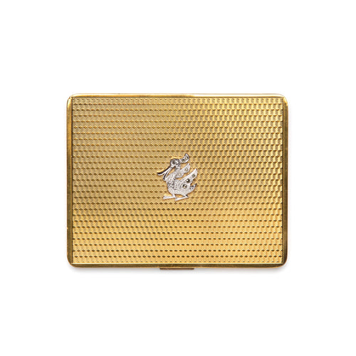 1950s Gold Compact with Diamanté Duck