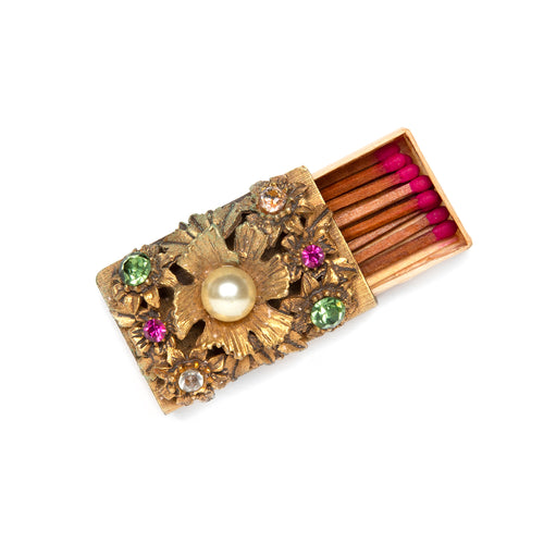 1950s Jewel Encrusted Match Box