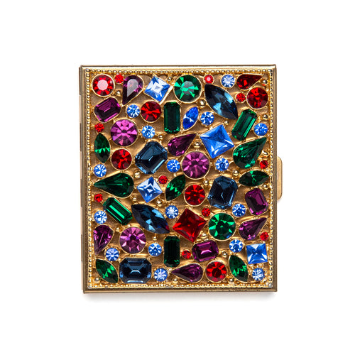 1950s Jewel Encrusted Mirror Case