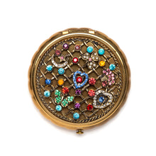Load image into Gallery viewer, 1960s Charm and Jewel Encrusted Compact