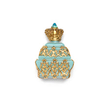 Load image into Gallery viewer, Tiered Blue Opaque Glass Perfume Bottle