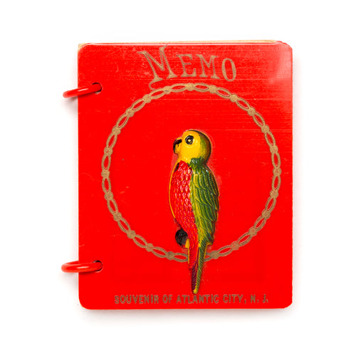 1930s Red Plastic Memo Notepad