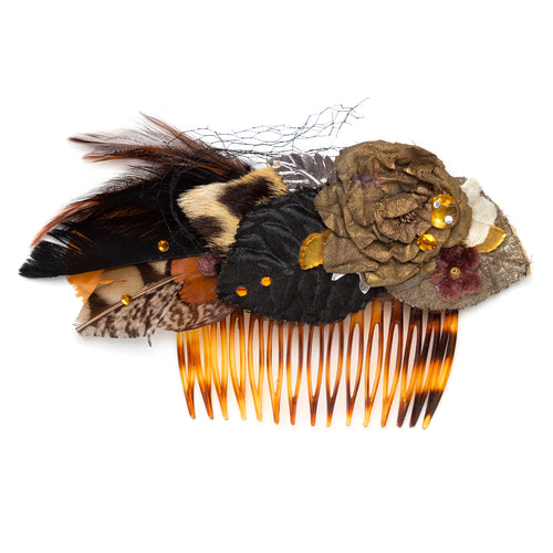 1980s Feathered Hair Comb