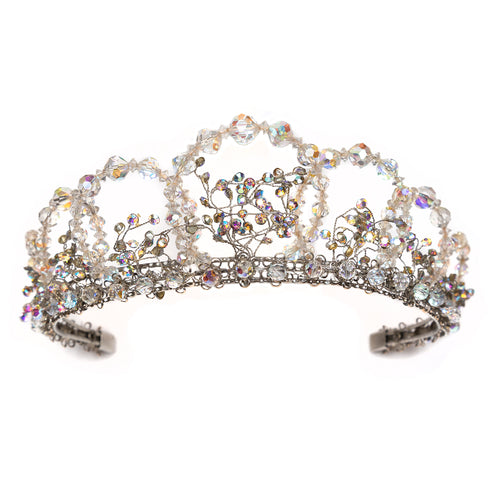 Artisanal Iridescent Beaded Tiara