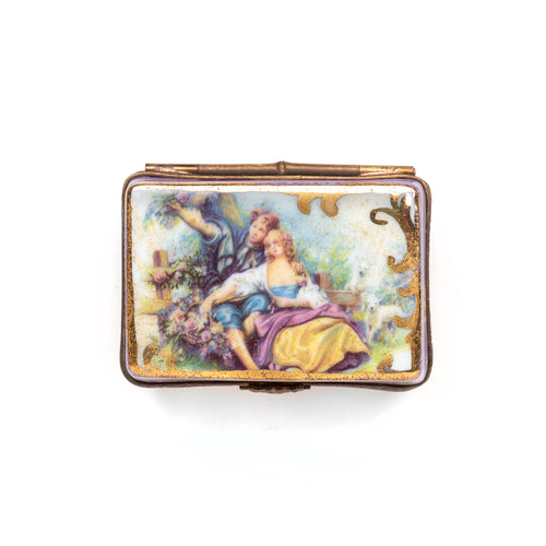 Limoges Porcelain Rectangular Box