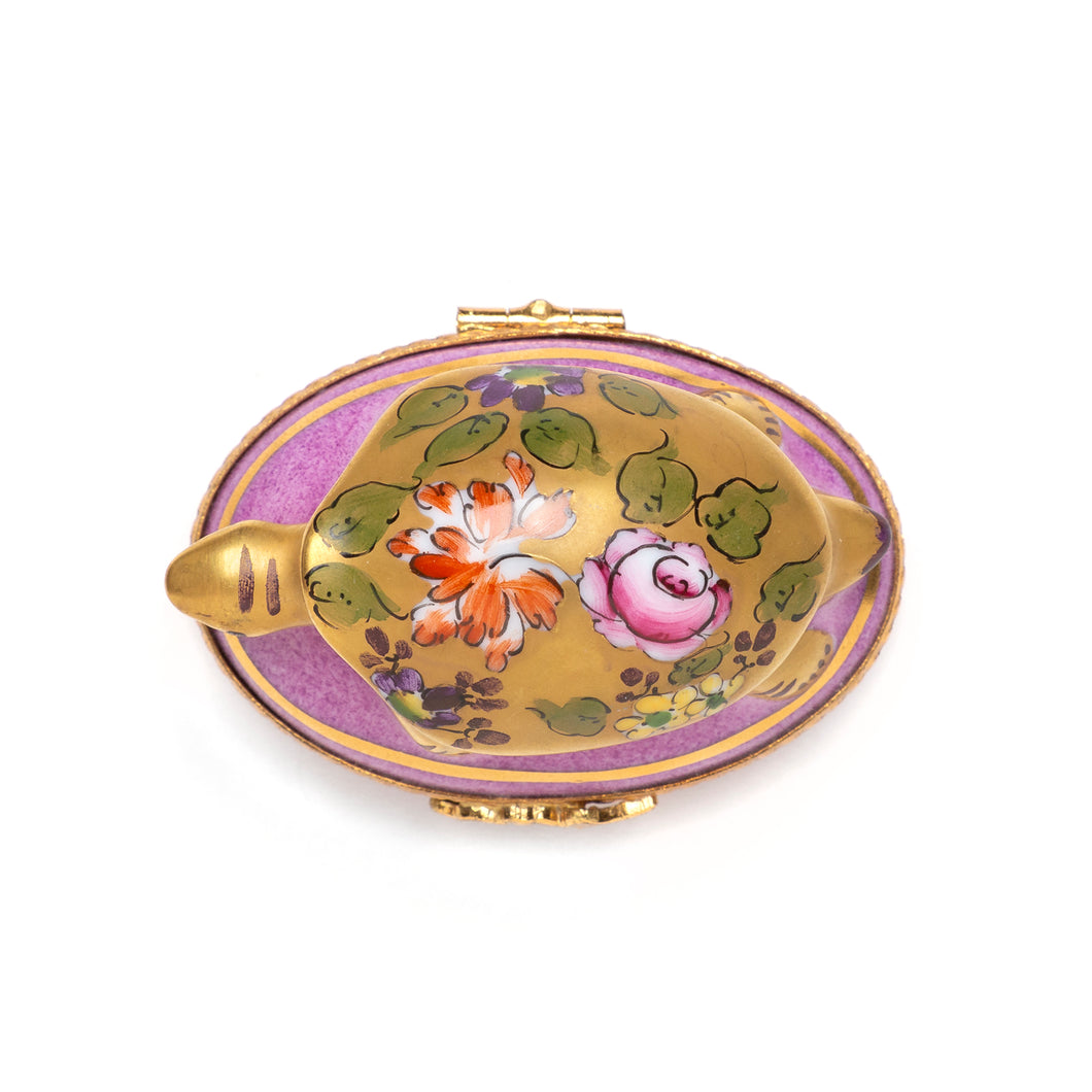 1950s Turtle Limoges Porcelain Box