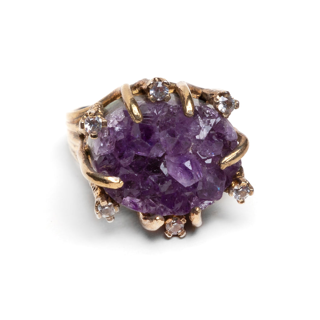 Panetta Purple Quartz and Sterling Ring