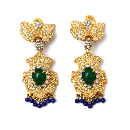 KJL Yellow Diamante Earrings
