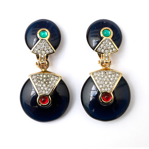 KJL Resin and Diamante Earrings
