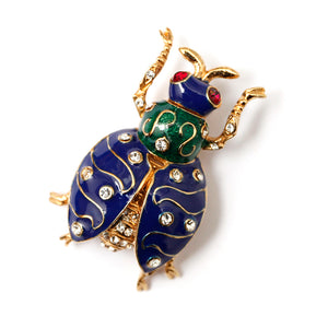 Ciner Enamel Beetle Bug Brooch