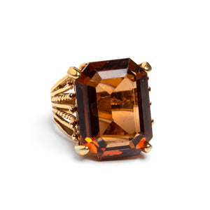 1950s Direction One Faceted Rectangular Ring