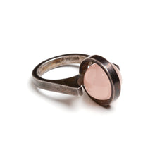 Load image into Gallery viewer, Pink Articulated Sphere and Sterling Ring