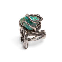 Load image into Gallery viewer, 1980s Sterling and Turquoise Artisanal Ring