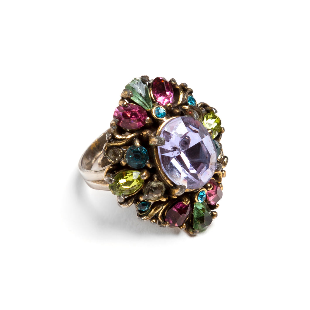 1950s Hollycraft Multi-Coloured Stones Ring