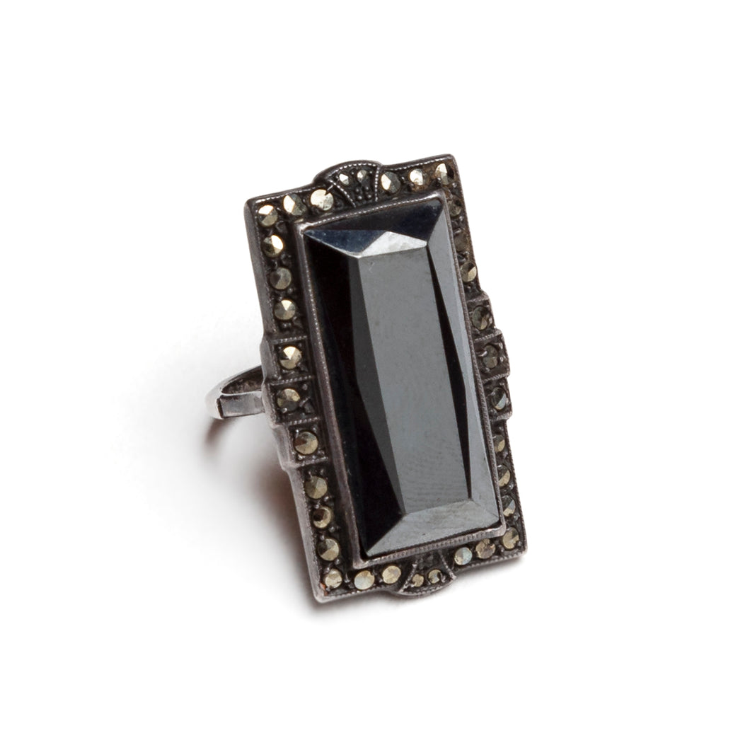 1920s Marcasite Rectangular Ring