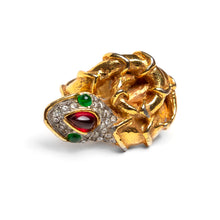 Load image into Gallery viewer, 1960s KJL Gold Serpent Ring