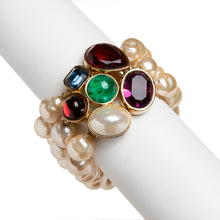 Load image into Gallery viewer, 1950s Ciner Pearl Three-Strand Bracelet