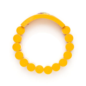 Yellow Inverted Painted Flowers Bracelet