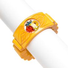 Load image into Gallery viewer, Yellow Inverted Painted Flowers Bracelet