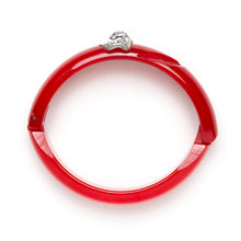 "Load image into Gallery viewer, Red Plastic ""E"" Bangle"