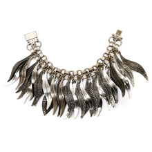 Load image into Gallery viewer, Silver Leaf Charm Bracelet