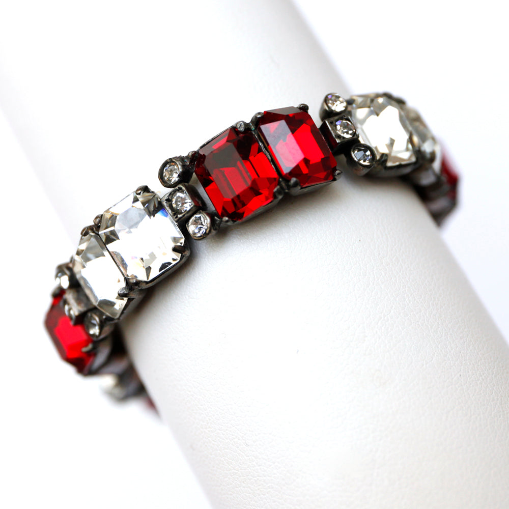 Eisenberg Ruby and Diamante Bracelet