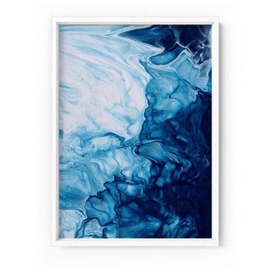 Abstract Fluid Ocean Breathing II - Art Print