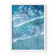 Load image into Gallery viewer, Aerial Ocean Waves & Tiny Surfers I - Art Print
