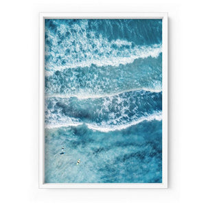 Aerial Ocean Waves & Tiny Surfers II - Art Print