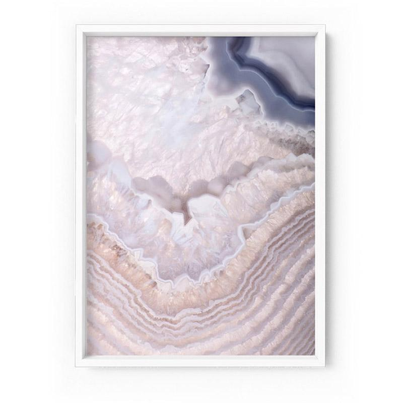 Agate Gem in Blush I - Art Print
